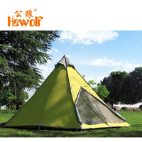 Male Wolf yurt tents outside civil air defense 6-8 aluminum alloy safe storm rain tent camping and camping