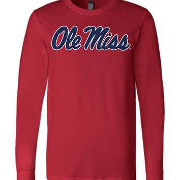 Official NCAA University of Mississippi Rebels Ole Miss Hotty Toddy Long Sleeve T-Shirt - 95OLM