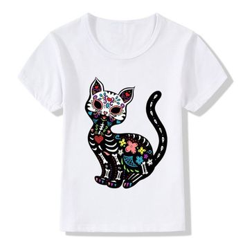 Kid Cat Sugar Skull Tee