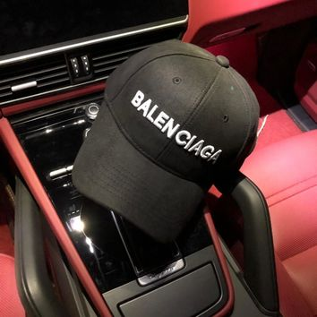 """Balenciaga"" Unisex All-match Classic Letter Embroidery Baseball Cap Couple Peaked Cap Sun Hat"