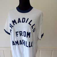 Vintage Armadillo from Amarillo T-shirt size X-Large