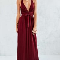Ecote Strappy Back Wrap Maxi Dress - Urban Outfitters