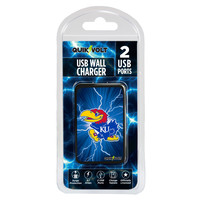 Kansas Jayhawks WP-200 Dual-Port USB Wall Charger