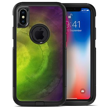 Circled Dark Absorbed Watercolor Texture - iPhone X OtterBox Case & Skin Kits