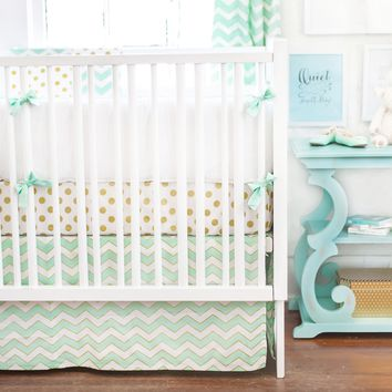 New Arrivals Gold Rush in Mist Baby Bedding