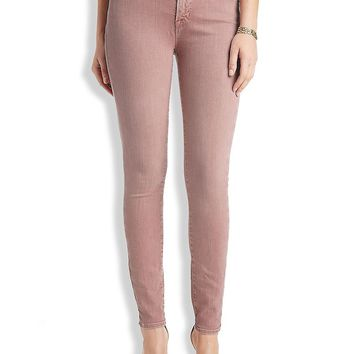 Lucky Brand Brooke Skinny Womens Straight Jeans - Dusty Rose
