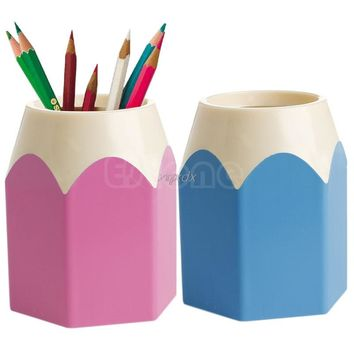 Creative kawaii Pen Vase Pencil Pot Makeup Brush Holder Stationery Container Desk school Office accessories Tidy Z11 Drop ship