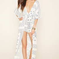 Reverse Belted Overlay Romper