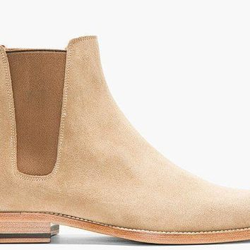 Wakeby Wolf Finesse Beige Chelsea Suede Boots