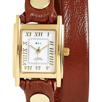 Women's La Mer Collections Leather Wrap Watch, 19mm