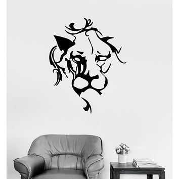 Wall Decal Lion Head Animal Africa Panther Tiger Vinyl Sticker (ed1664)