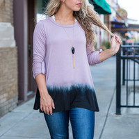 The Breaking Point Top, Purple-Black