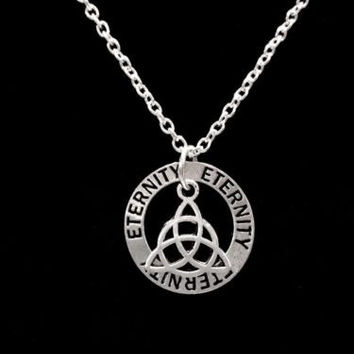 Eternity Celtic Knot Trinity Triquetra Infinity Religious Charm Necklace