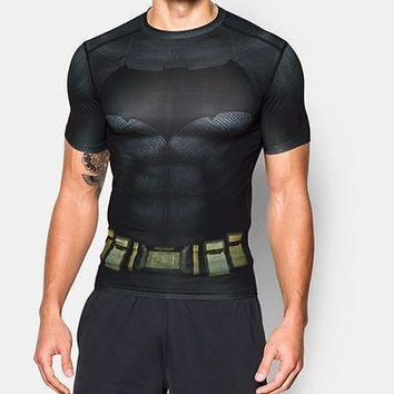 Under Armour Mens UA Alter Ego Batman Compression Shirt - Large