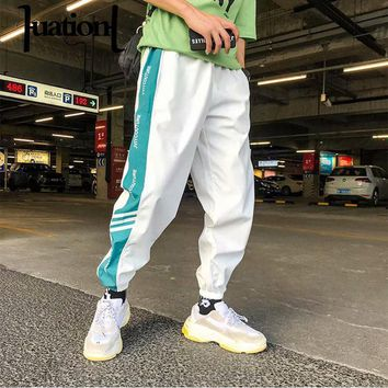 2018 Fashion Hip Hop Men Pants Lace up Joggers Pants Kanye West  Loose Streetwear Trousers Mens sweatpants pantalones de hombre
