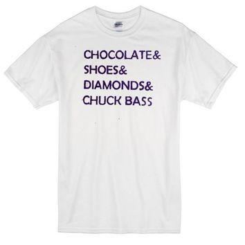Chocolate Shoes Diamonds Chuck Bass Custom Men's Gildan Adult T-Shirt