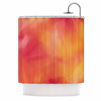 "Malia Shields ""Unconditional Love"" Orange Pink Shower Curtain"