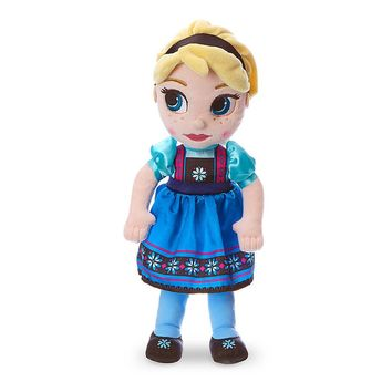 "Licensed cool Disney Store Animators 13"" Princess QUEEN ELSA Plush Toddler Toy Doll FROZEN"