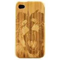 Boho Tronics TM Bamboo Lion Roar Hard Shell Case - Compatible With Apple iPhone 4 4S