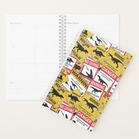 Dinosaur Caution Signs Planner