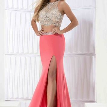 Jasz Couture Jersey Fitted Dress 5711