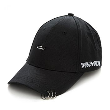 Oksale Clip Ring Embroidery Cotton Unisex Snapback Hip Hop Hat Baseball Cap