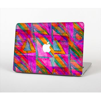 The Grunge Abstract Pink Painted Shapes Skin Set for the Apple MacBook Air 11""