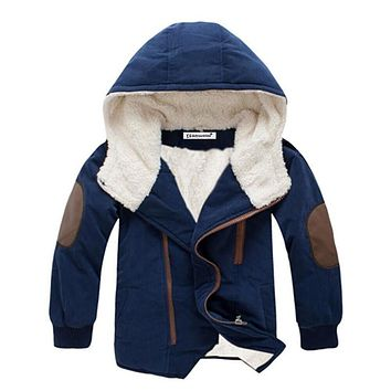 Red, Blue, Gray, Yellow Stripes Collection Kid Child Baby Toddler New Born Infant Winter Snow Coat