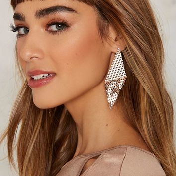 Fall For It Chainmail Earrings