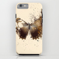 iPhone 6 ihone 6 Plus iPhone 5 iPhone 5s iPhone 5c iPhone 4 iPhone 4s Samsung Galaxy S5 Galaxy S4 Phone Case. Brown Butterfly Phone Case