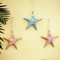 Set of 3 Starfish Beach Nautical Themed Wall Decor Wall Art Home Decor