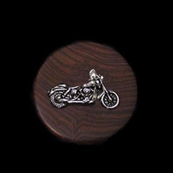 Motorcycle Rosewood Wine Stopper by Jim