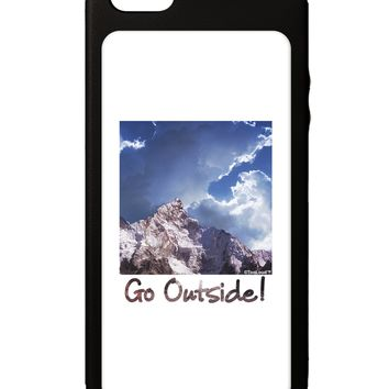 Go Outside Mountain iPhone 5C Grip Case  by TooLoud