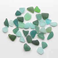 Sea Glass  Jewelry Quality 35 pieces