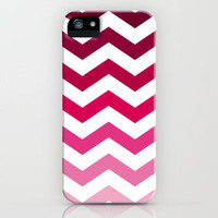 Pink Ombre Chevron iPhone Case by Go To Design | Society6