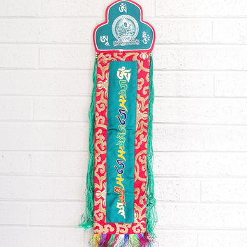 Green Tara Healing Banner for Protection and Long Life