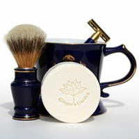 Wet Shaving Soap Lime Grapefruit Round for a close shave Father's Day