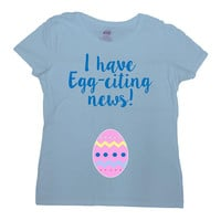 Easter Pregnancy Reveal Baby Announcement Easter Egg Maternity Gifts Pregnant T Shirt Expecting Mother To Be New Mom Ladies Tee - SA1043