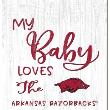 Arkansas Razorbacks | My Baby Loves | Sign | Wood | Rope Hanger | NCAA