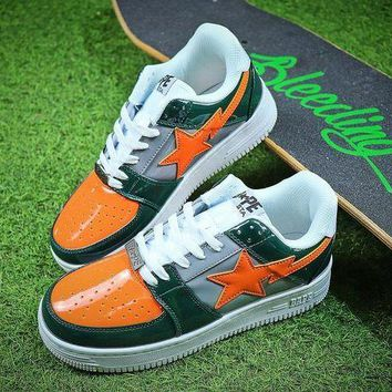 DCC3W Bape Sta Sneakers Green Orange Shoes