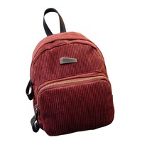 2017 New Women's Flannel Backpack Mini Backpacks School Rucksack For Teenage Ladies mochilas
