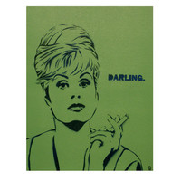 Absolutely Fabulous Painting Patsy Stone Portrait 11x14 Graffiti and Street Art Inspired Pop Art BBC TV Original Art