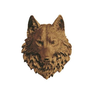The Sierra | Large Wolf Head | Faux Taxidermy | Bronze Resin
