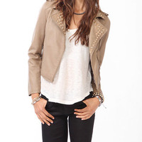 Spiked Collar Moto Jacket