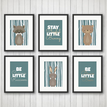 Nursery Wall Art - Woodland Creatures - Woodland Nursery Decor - Nursery Art Prints - Nursery Prints Set - Nursery Woodland Animals