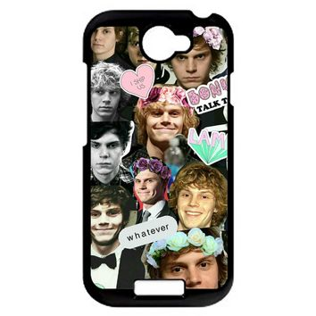 Evan Peters Collage 4 HTC One S Case
