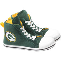 Green Bay Packers Men's Official NFL Puffy Sneaker Slipper