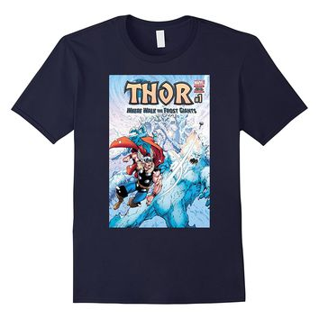 Marvel Thor Frost Giants Comic Cover Graphic T-Shirt