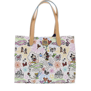 Disney Parks Disney Characters Sketch Tote Bag by Dooney & Bourke New with Tag