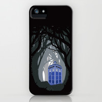 Tardis doctor who lost in the woods apple iPhone 4 4s, 5 5s 5c, iPod & samsung galaxy s4 case